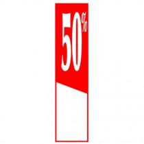 """Affiche """"- 50%"""" L40 H165 cm"""