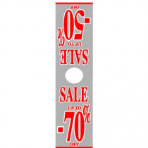 "Poster ""SALE UP TO -50 -70%"" Mannequin 170 X 40 CM"
