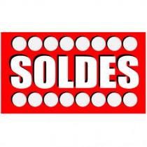 """Affiche """"SOLDES"""" L45 H25 cm"""
