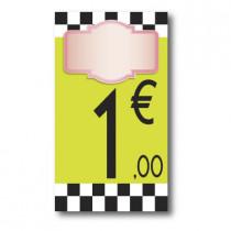 Panneau PVC 1€, 20x35cm