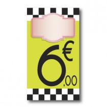 Panneau PVC 6€, 20x35cm