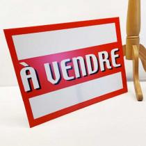"""Panneau à poser """"À VENDRE """" L55 H40 cm"""