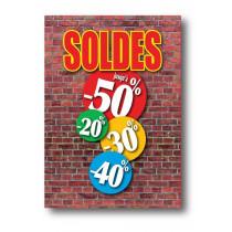 Affiche XXL SOLDES BRIQUES  L120 H170cm