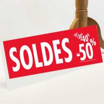 """Panneau à poser """"SOLDES"""" L50 H20 cm"""