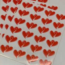 """12 planches de  stickers fantaisie """"2 COEURS"""""""