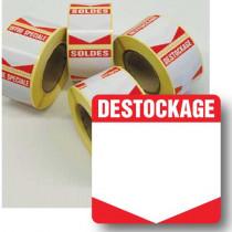 """Rouleau de 500 étiquettes adhésives """"DESTOCKAGE"""" 35mm"""
