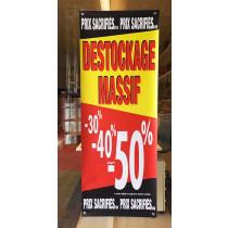 Bâche DESTOCKAGE MASSIF L60 H160 cm 4 oeillets et 4 ventouses