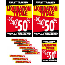 "Kit de 12 Affiches ""LIQUIDATION TOTALE"" 04"