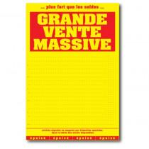 """Affiche """"GRANDE VENTE MASSIVE"""" L120 H170 cm"""