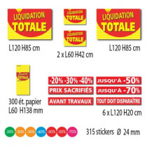 "Kit de  10 affiches ""LIQUIDATION TOTALE"""