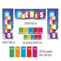Kit de 3 affiches, 10 cartons et 250 etiquettes papier