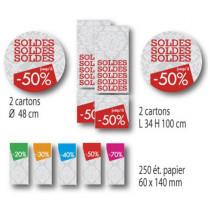 Kit de 4 cartons et 250 etiquettes papier