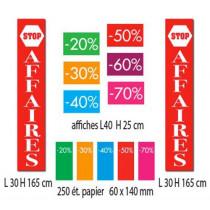 KIT de 7 affiches STOP AFFAIRES