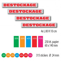 KIT de 4 affiches DESTOCKAGE