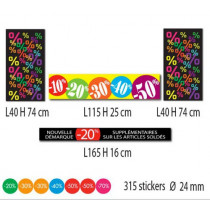 Kit de 4 affiches + 315 stickers