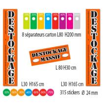 "Kit de 4 affiches ""DESTOCKAGE MASSIF"""