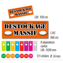"Kit de 2 affiches ""DESTOCKAGE MASSIF"""