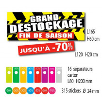 Kit de 2 affiches GRAND DESTOCKAGE