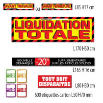 "Kit de 4 affiches ""LIQUIDATION TOTALE"""