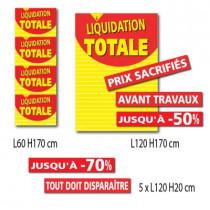 """Kit de 7 affiches """"LIQUIDATION TOTALE"""""""