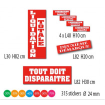 "Kit de 6 affiches ""LIQUIDATION TOTALE"""