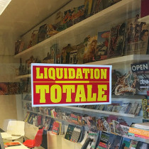 """Affiche """"LIQUIDATION TOTALE"""" L42 H20 cm"""