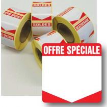 """Rouleau de 500 étiquettes adhésives """"OFFRE SPECIALE"""" 35mm"""