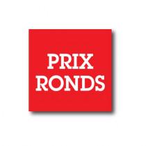 "Sticker adhésif ""PRIX RONDS ""  L40 H40 cm"