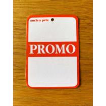 """Paquet de 100 étiquettes carton """"promo"""" L50 H70 mm"""