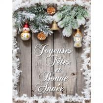 """Affiche """"Joyeux Fêtes et Bonne Année"""" L60 H80 cm"""