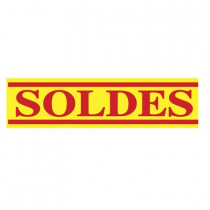"""Affiche """"SOLDES"""" L60 H16 cm"""