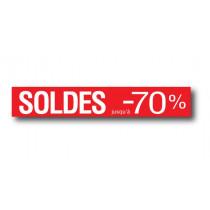 """STICKER DE SOL """"SOLDES-70%"""" L120 H20 cm"""