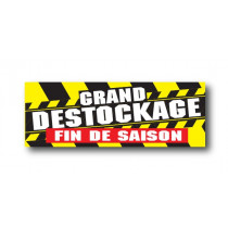 "STICKER DE SOL ""GRAND DESTOCKAGE de FIN de SAISON"" L100 H35 cm"