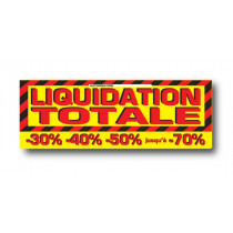 "STICKER DE SOL ""LIQUIDATION TOTALE"" L100 H35 cm"