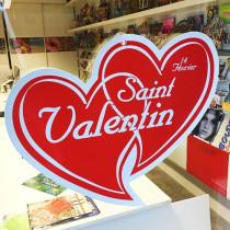 "Carton 2 coeurs ""St Valentin"" L57 H45 cm"