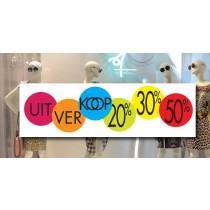 Poster UITVERKOOP 20%30% 50%  L115 H35 cm