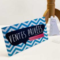 """Panneau à poser """"VENTES PRIVEES"""" L33 H20 cm"""