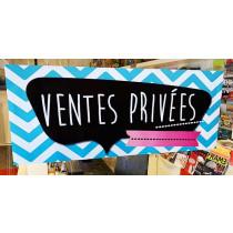 Affiche  VENTES PRIVEES  L80 H30 cm