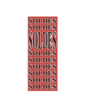 """Affiche """"SOLDES..SOLDES...SOLDES... """" fluo L50 H115 cm"""