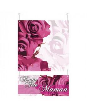 """Guirlande de deux cartons """"Bonne Fête Maman"""" L34 H52 cm"""