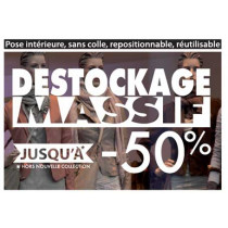 VITROPHANIE DESTOCKAGE -50% L 66 H37 cm