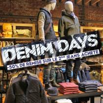 "Affiche ""DENIM DAYS""  L100 H25 cm"