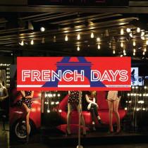 "Affiche ""FRENCH DAYS"" L70 H20cm"