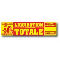 Bâche LIQUIDATION TOTALE  L500 H120 cm