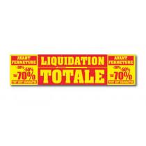 Bâche LIQUIDATION TOTALE L250 H 60 cm