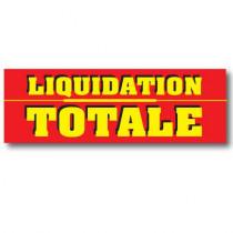"Affiche ""LIQUIDATION TOTALE"" XXL 300 H100 cm"