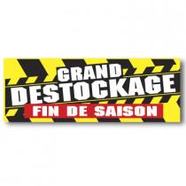 """Affiche """"DESTOCKAGE FIN DE SAISON"""" XXL L280 H102 cm"""