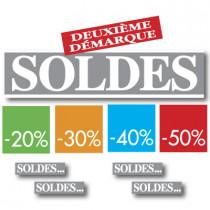 """Kit de 10 affiches """" SOLDES"""""""