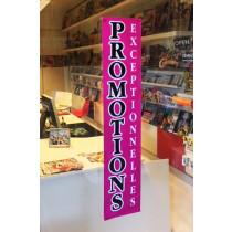 """Affiche """"PROMOTIONS EXCEPTIONNELLES"""" fluo L25 H115 cm"""