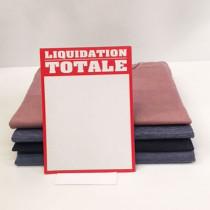 """Paquet de 50 étiquettes carton """"LIQUIDATION TOTALE"""" L145 H200 mm"""